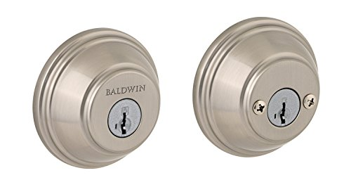 Baldwin Prestige 385 Round Double Cylinder Deadbolt Featuring SmartKey in Satin - Bolts Baldwin