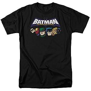 Trevco Men's Batman Bb Head Lineup Short Sleeve Adult T-Shirt at Gotham City Store