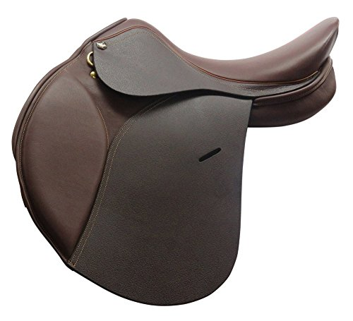 Henri de Rivel Club HDR All Purpose English Saddle | Horse Riding Equestrian Saddle - Oak Bark Printed - 14 Wide ()