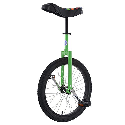 Club 20'' Freestyle Unicycle - Green by Unicycle.com