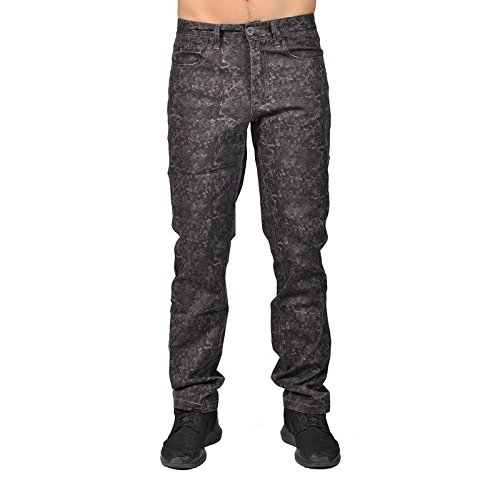 Dirty Robbers Camo Military Design Joggers Chino Pants (33,Charcoal Camo) Dirty Camo