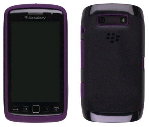 Black Purple Original Hard Plastic Case Over Premium Skin, ACC-38964-303 For Blackberry Torch 9860, 9850 (Skin Blackberry Torch)