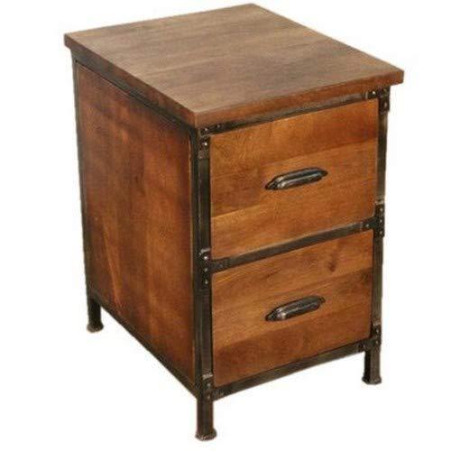 Y Decor Lafayette 2-drawer Wood & Metal File Cabinet in Medium Brown Finish