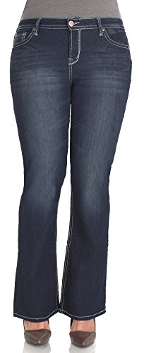 WallFlower Plus Size Plus Short Inseam Basic Legendary Bootcut Jeans in Britney Size: 20 Plus Short ()