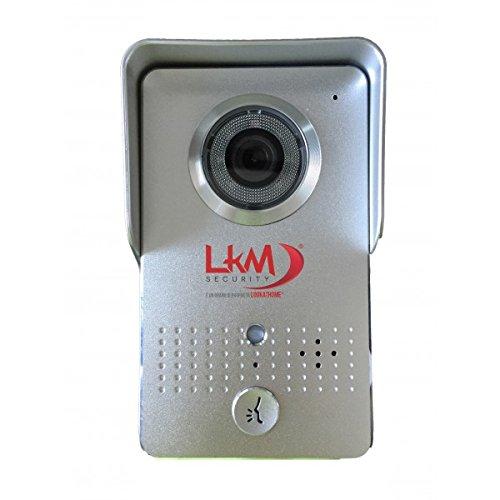 LKM WLAN-fähiges wireless Security Gegensprechanlage mit Kamera und Nachtsicht, IP55,, P2P, silber