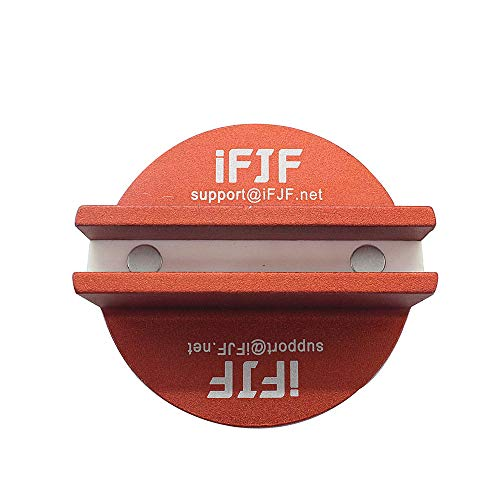 Byenins Large Slotted Universal Magnetic Jack Pad Weld Frame Rail Adapter(Orange) for All Model Cars