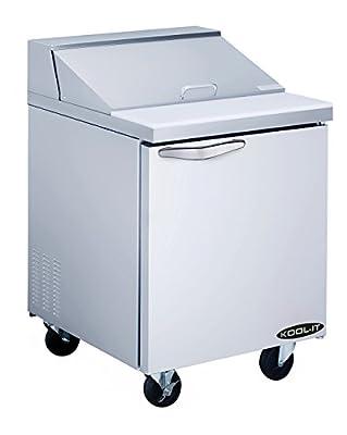 """Kool-It KST-27-1 Stainless Steel Sandwich Prep Table, 27-1/2"""" Width x 42-1/2"""" Height x 30"""" Depth"""
