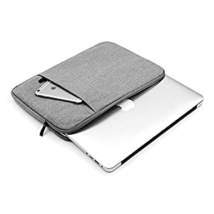 RAINYEAR 13-13.3 Inch Fabric Waterproof Laptop Sleeve Case Universal Polyester Laptop Sleeve For MacBook/Ultrabook/Dell/HP/Samsung/Sony/Acer/Lenovo(Gray)