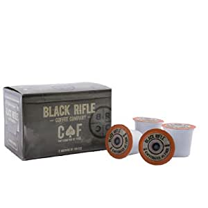 Black Rifle Coffee Company CAF Caffeinated AF Single Serve Capsules, for single serve coffee makers(12 Count)