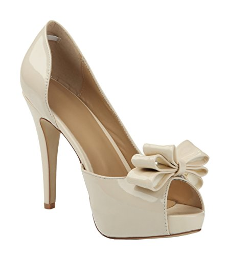 TDA - Zapatos con tacón mujer Beige