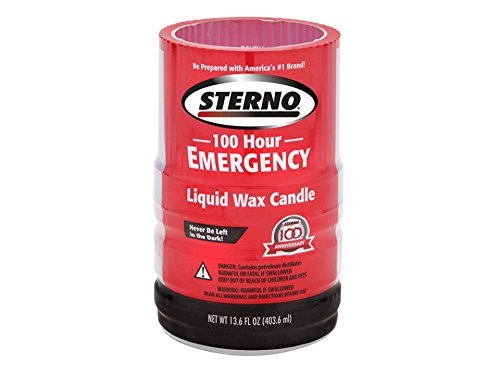 Sterno 30278 Liquid Wax Candles, 100 Hours