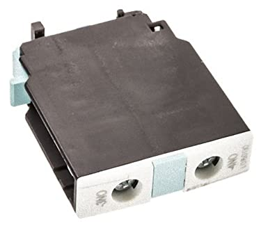 Siemens 3RH1921-1CA10 AUXILIARY SWITCH BLOCK, 1 NO, DIN EN50005, SCREW CONNECTION, FOR CONTACTORS FOR SWITCHING MOTORS, 1-POLE, White 3RH19211CA10