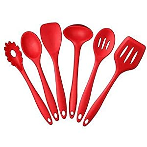 Kitchen Utensil Set with Silicone and non - stick Solid Coating(5 Pieces )