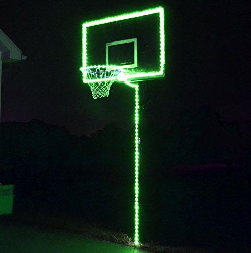 GlowCity Light Up Basketball Hoop Lighting kit(Light Up Basketball Not Inlcuded) (Green) ()