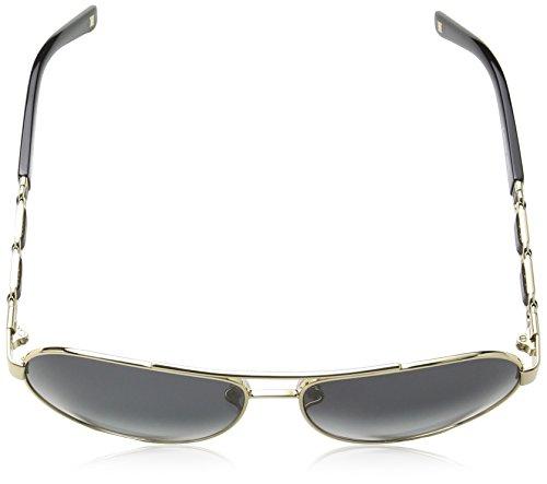 ... Escada - Lunette de soleil SES829 Aviator - Femme Gold   black detail  frame   smoke 41ff31fa422e