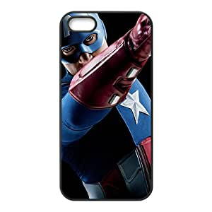Custom Captain America Desgin High Quality Case Cover Fashion Style for iPhone 5/5s