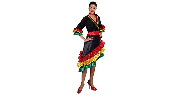 Disfraz con vestido brasileña española S, M, L, y XL: Amazon.es ...
