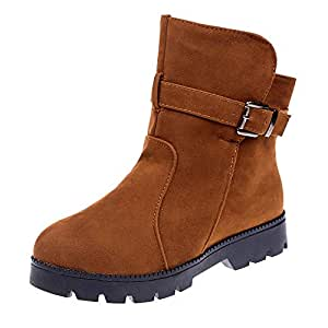 Amazon.com: Clearance!Women Flat Snow Boots Suede Buckle