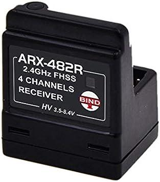 Arx-482R Nueva Antena Incorporada 4 Canales Fhss Receptor ...