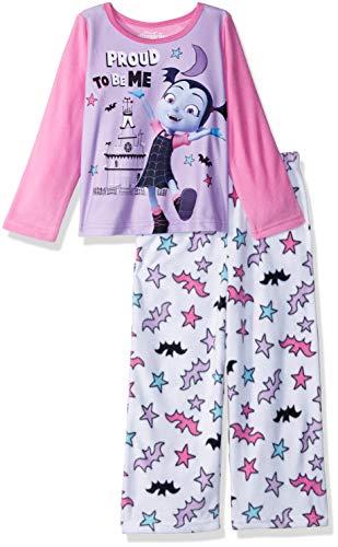 Disney Girls' Toddler' Vampirina 2-Piece Fleece Pajama Set, Vee Pink, 3T