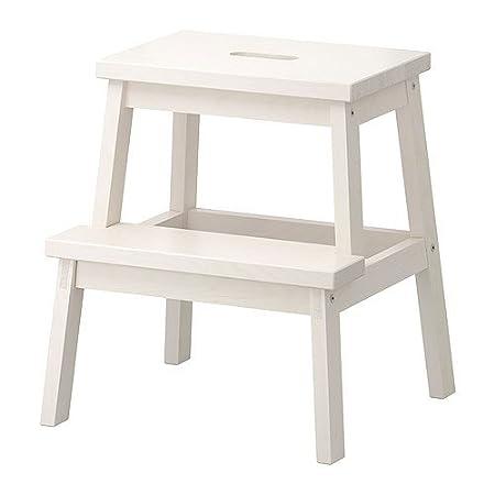 IKEA, sgabello BEKVÄM bianco bianco