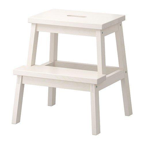 Ikea Tritthocker in weiß aus Massivholz Bekvam-Taburete de Madera Maciza, Color Blanco, 5