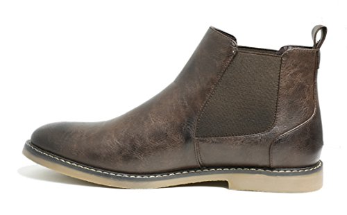 Image of PartyEight Mens Ankle Casual Chelsea Boots Dark Brown 8.5