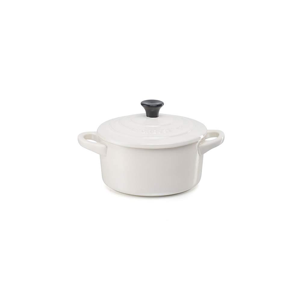 Le Creuset Stoneware Mini Round Cocotte, 8 oz., White