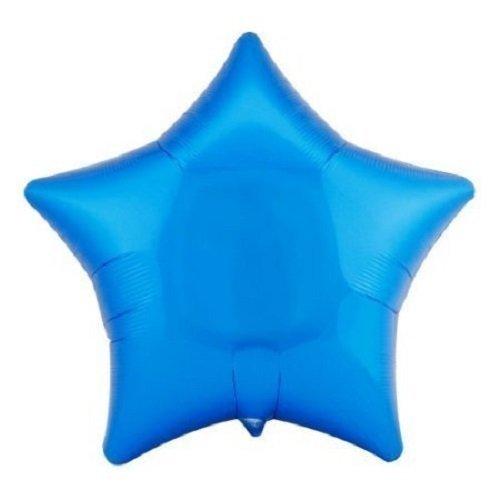 Anagram Mylar Balloons (Lot of 10 Blue Star Shape Foil Mylar 19