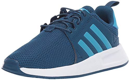 adidas Originals Unisex X_PLR Running Shoe, Legend Marine/Shock Cyan/White, 10.5K M US Little Kid