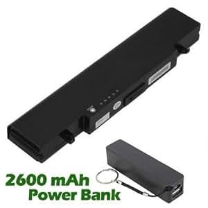 Battpit Bateria de repuesto para portátiles Samsung NP300V4AH (4400 mah) con 2600mAh Banco de energía / batería externa (negro) para Smartphone