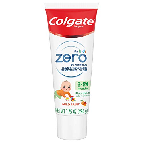 41VZSWmICQL - Colgate Zero Baby And Toddler Fluoride Free And SLS Free Toothpaste, Natural Mild Fruit - 1.75 Ounce
