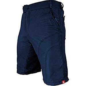Urban Cycling Apparel The Pub Crawler - Men's Loose-Fit Bike Shorts For Commuter Cycling or Mountain Biking, With Secure Pockets (Large, Blue - Without Padded Undershorts)