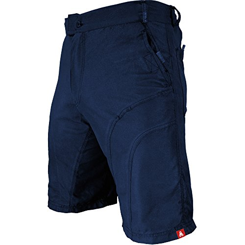 Urban Cycling Apparel The Pub Crawler - Men's Loose-Fit Bike Shorts For Commuter Cycling or Mountain Biking, With Secure Pockets (Large, Blue - Without Padded (Bike Apparel)