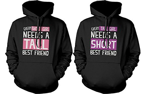 BFF Accessories BFF Pullover Sweaters - Hoodies for Tall and Short Best Friends (Tall And Short Best Friends)