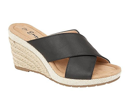 Foster Footwear - Sandalias con Cuña chica mujer Black Mule