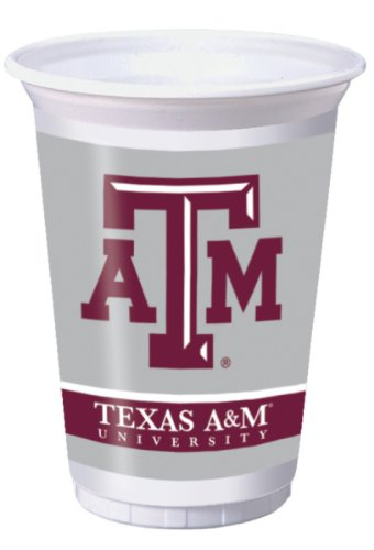 Texas A & M Aggies 20 oz. Plastic Cups, 8-Count