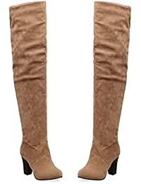 Amazon.com: Yellow - Over-the-Knee / Boots: Clothing, Shoes & Jewelry