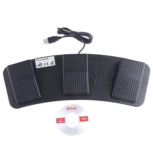 DecentGadget PC USB Pedal Control de Pie Acción Teclado Interruptor de Pedal HID: Amazon.es: Electrónica