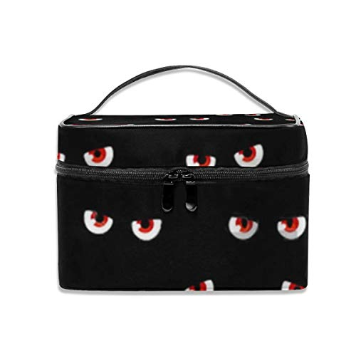 Dkhh The Evil Black Eyes of The Halloween Ghost Travel Makeup Bag Cosmetic Cases Organizer Portable Storage Bag for Cosmetics Makeup Brushes Toiletry Travel Accessories]()