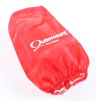 Outerwears Pre-Filter for K&N BD-6500 Filter - Red 20-1005-03