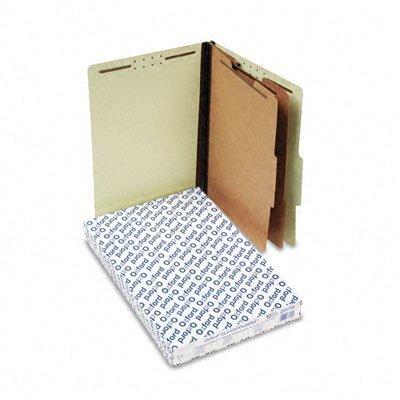 Six-Section Pressboard Classification Folders Legal Size, Light Green, 10/Box (ESS2257G) by Esselte