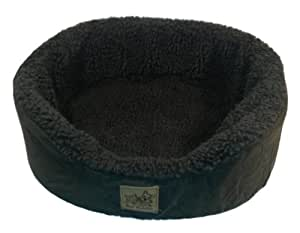 Mighty Mutz Pet Lounger, Sheepskin Inner with Green Fabric Outside, Small, Green
