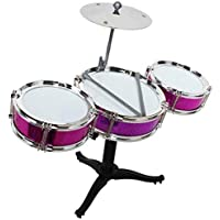 ABODH Jazz Drum Set for Kids with 3 Musical Drum, 2 Drum Sticks and 1 Band Stand