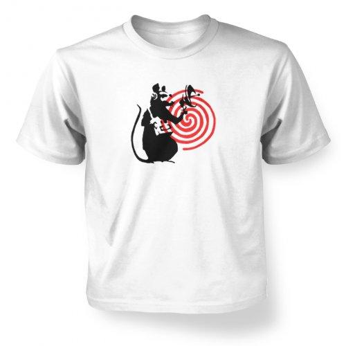 Banksy Tshirts PP - Radarratte Banksy Kinder T-Shirt 5 Jahr Weiß