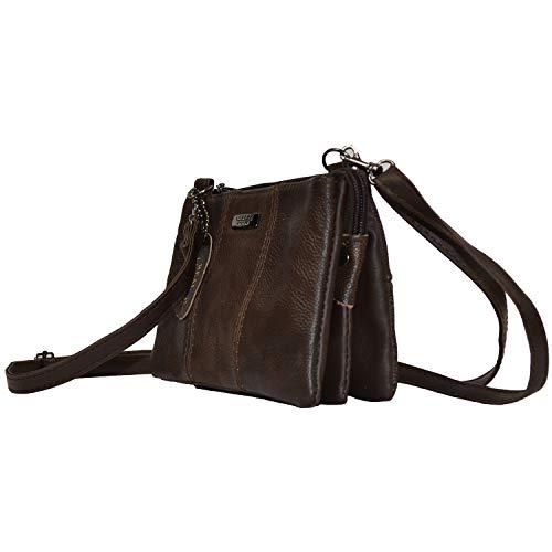 Size Bag Ladies Small Brown Shoulder Leather Lorenz Ptgqwat