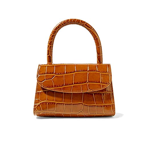 Baguette bag animal print alligator leather bag handbag women retro vintage small clutch,orange length16cm