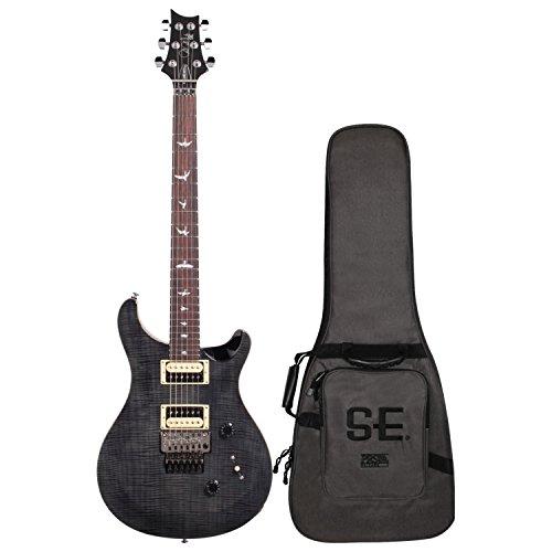 PRS 6 String SE Custom 24 Floyd Electric Guitar, Gray Black, Right Handed, (CM4GBFL2)