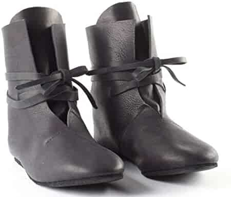 45982dc0176 Fortunehouse Medieval Viking Tudor Cosplay Shoes Festival LARP Shoes Boots  for Men