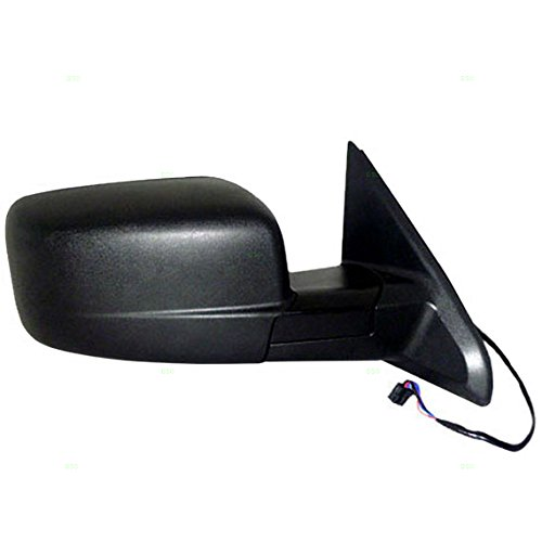 Passengers Power Side View Mirror Heated Textured Replacement for Dodge & RAM Pickup Truck 55372066AG